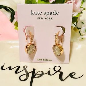 KATE SPADE ♠️ POOL PAVE ROUND DROP EARRINGS, GOLD